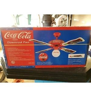 Rare Vintage Coca Cola Down Rod Fan New